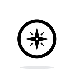 Wind rose icon on white background vector