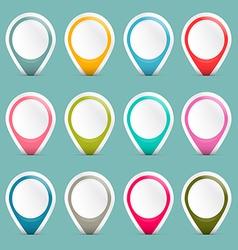 Empty Colorful Retro Paper Labels Set vector image