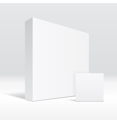 3d blank packaging box and envelope vector
