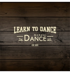 Learn to dance badges logos and labels for any use vector
