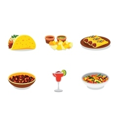 Mexican food promo poster mini set with vector