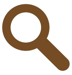 Search flat brown color icon vector