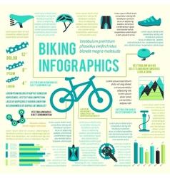 Bike icons infographic vector