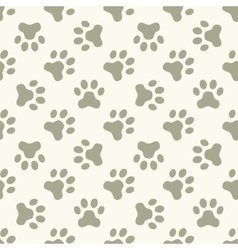 Cat or dog paw seamless pattern vector image vector image