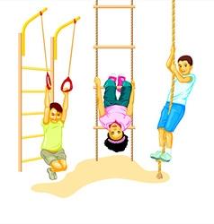 Climbing kids vector