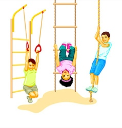 Climbing kids vector image vector image