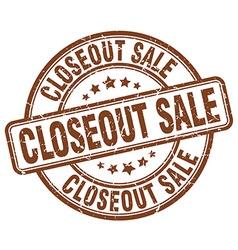 Closeout sale brown grunge round vintage rubber vector