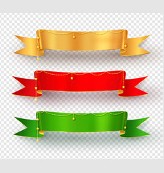 collection of realistic festive ribbon banners vector image vector image