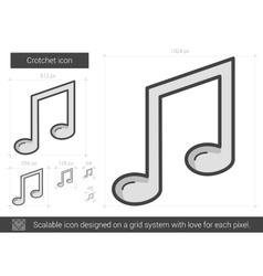 Crotchet line icon vector image