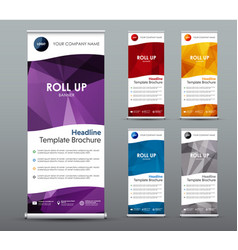 et of vertical roll up banners templates vector image