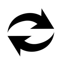 flat black repeat icon vector image