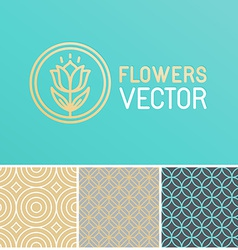 floral logo design element vector image vector image