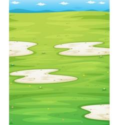 Grass field vector
