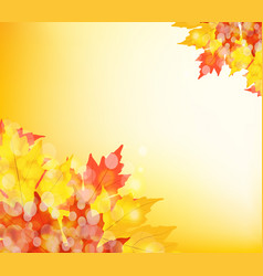 happy thanksgiving autumn background with leaves vector image