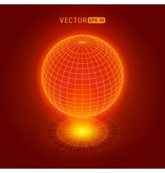 Holographic globe vector image