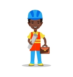 Kids builder character vector