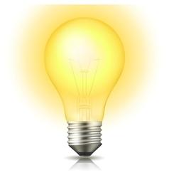 Lit Light Bulb vector image