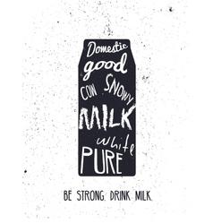 Milk vintage card vector