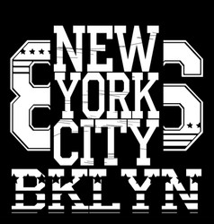 new york typograph vector image vector image