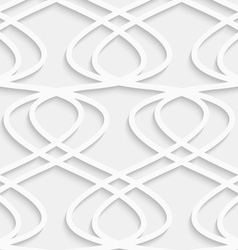 Paper cut out fence grid vector