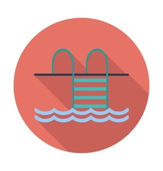 Pool flat icon vector