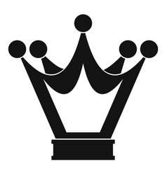 princess crown icon simple style vector image vector image