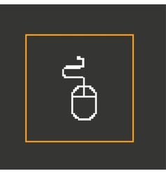 Simple stylish pixel icon mouse design vector image vector image