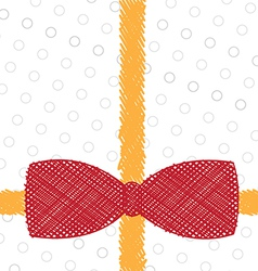 sketch drawing ribbon background vector image vector image