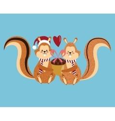 Squirrel cartoon of christmas season design vector