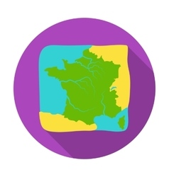Territory of France icon in flat style isolated on vector image