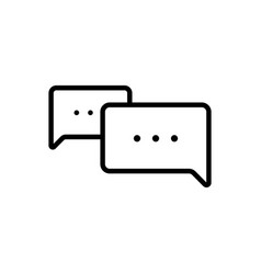 thin line chat speech comment chatting icon vector image vector image