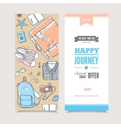 Travel vertical invitation vector image vector image