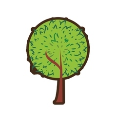 Tree plant hand drawing isolated icon vector