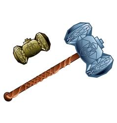 Two dwarven hammer vector