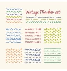 Vintage Marker strokes set vector image vector image