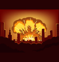 war and damages after big explosion in the city vector image vector image