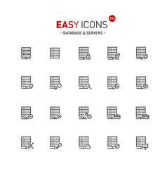 easy icons 23a database vector image