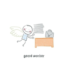 good worker vector image