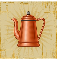 Retro coffee pot vector