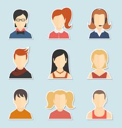 Avatar icon set vector