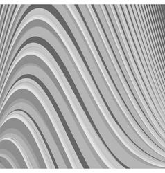Design monochrome parallel waving lines background vector image