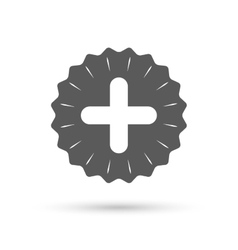 Plus sign icon positive symbol vector