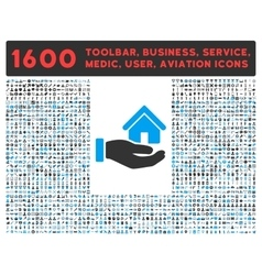 Real estate icon with large pictogram collection vector