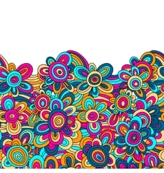 Floral pattern for easy making seamless vector