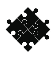 Puzzle black simple icon vector