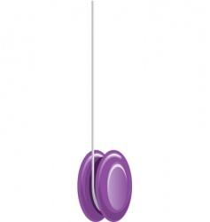 yoyo purple vector image