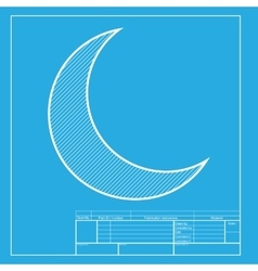 Moon sign  white section of icon on vector