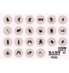 Pure series hand draw baby icon vector