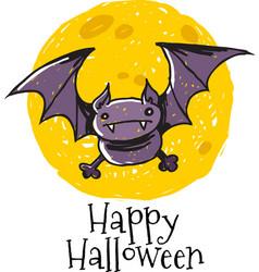 Bat moon logo vector