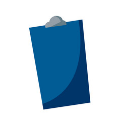 Blue clipboard report equipment hospital element vector